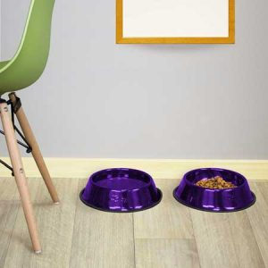 Platinum Pets Embossed Non-Tip Stainless Steel Dog Bowls